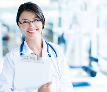 Smiling woman doctor