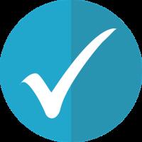 Circle icon with check mark